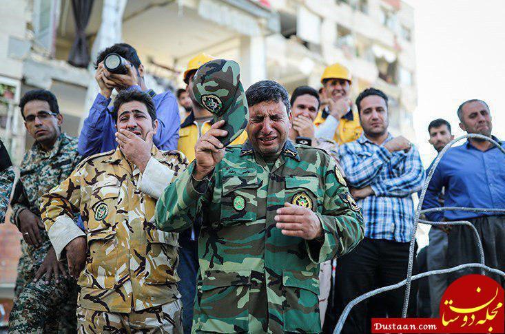 www.dustaan.com اشک ارتشی ها در غم مردم کرمانشاه +عکس
