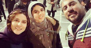 سلفی دیدنی محسن کیایی و سحر دولتشاهی در چهار راه استانبول!