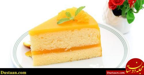 www.dustaan.com دستور تهیه کیک پرتقالی ژله ای