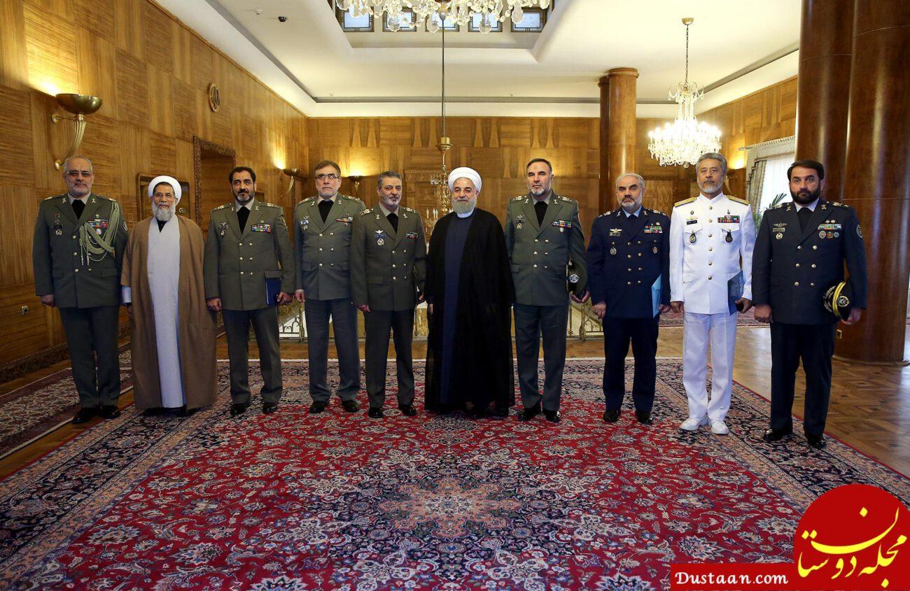 دیدار حسن روحانی با فرماندهان ارشد ارتش +عکس