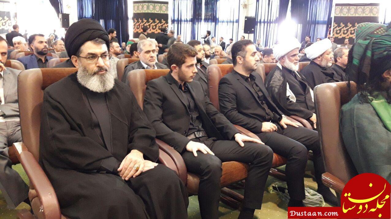 مراسم ترحیم پدر سردار سلیمانی/ احمدینژاد و یک مهمان ویژه +عکس