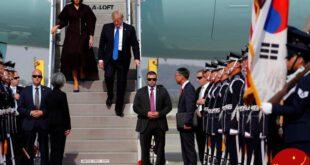 ترامپ در دومین مقصد از سفر آسیایی خود وارد کره جنوبی شد+ تصاویر