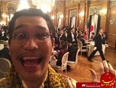 www.dustaan.com ملاقات دونالد ترامپ با عجیبترین مرد ژاپن + تصاویر
