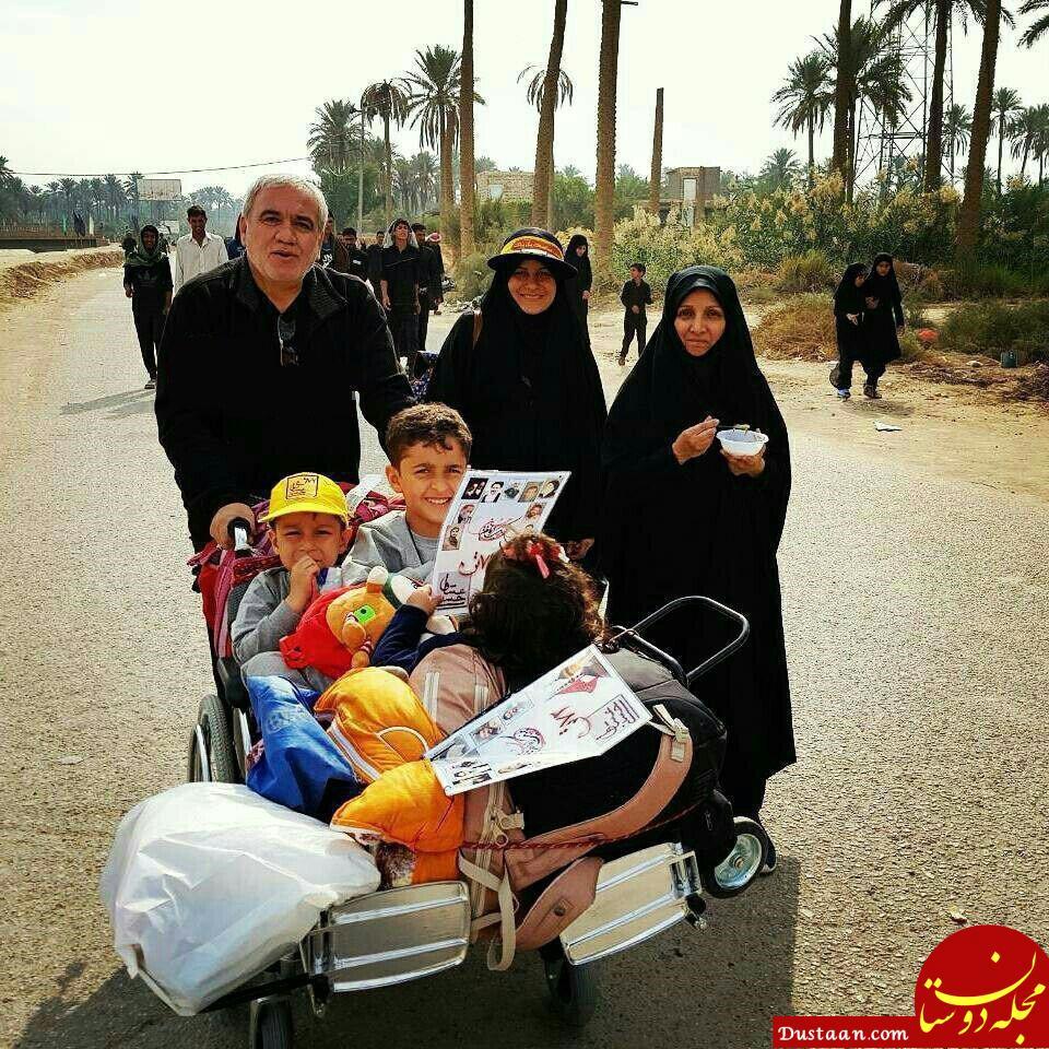 www.dustaan.com علیفتحالله زاده در پیادهروی اربعین +عکس