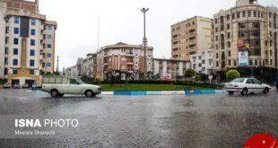 آبگرفتگی خیابانهای ساری بعد از بارش شدید باران +تصاویر
