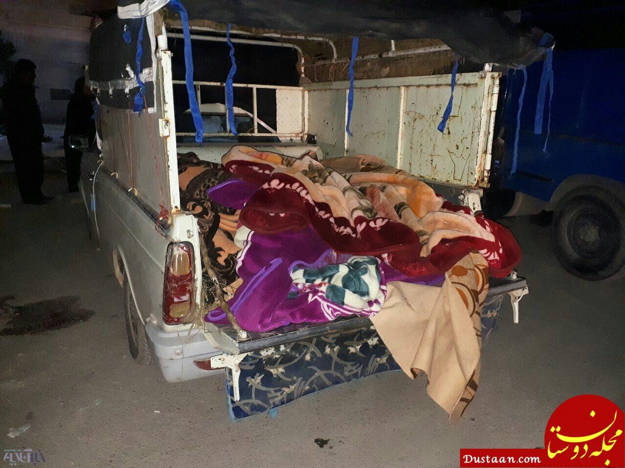 www.dustaan.com عکس دلخراش از قربانیان زلزله شدید قصر شیرین