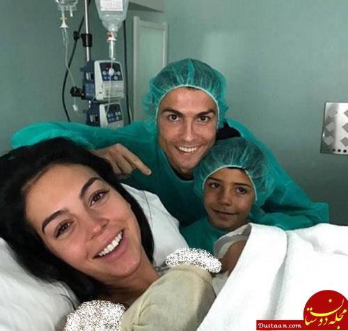 www.dustaan.com دختر دوم کریستیانو رونالدو به دنیا آمد! +عکس