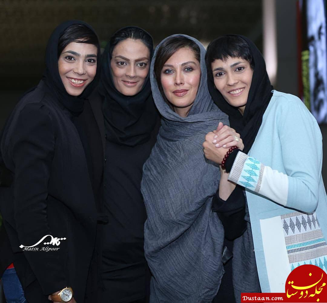 www.dustaan.com خواهران منصوریان در مراسم اکران صفر تا سکو +عکس