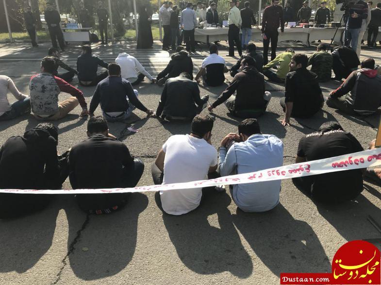 www.dustaan.com دستگیری ۱۱۰ سارق خشن در تهران +عکس