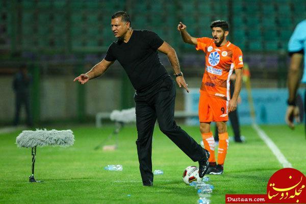 www.dustaan.com درگیری علی دایی با مامور نیروی انتظامی در پایان جام شهدا