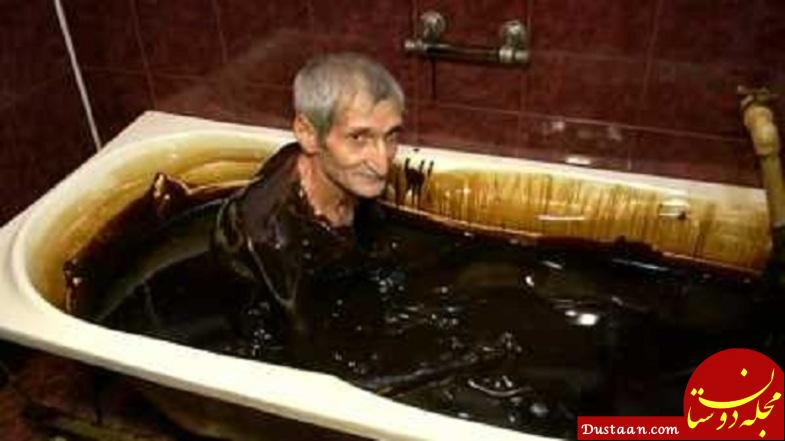 www.dustaan.com حمام نفت مخصوص افراد پولدار و مرفه! +عکس