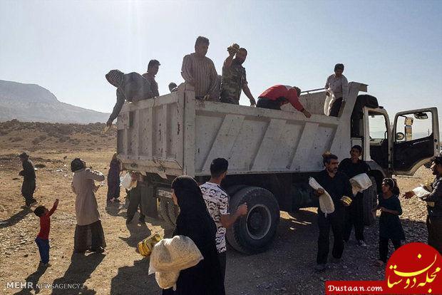 www.dustaan.com توزیع کمک های مردمی بین زلزله زدگان کرمانشاه +عکس