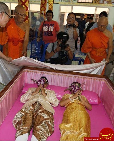 www.dustaan.com برگزاری جشن عروسی درون تابوت! +عکس