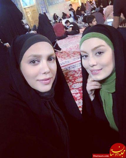 www.dustaan.com سحر قریشی و شیما مرزی در حرم امام رضا (ع)