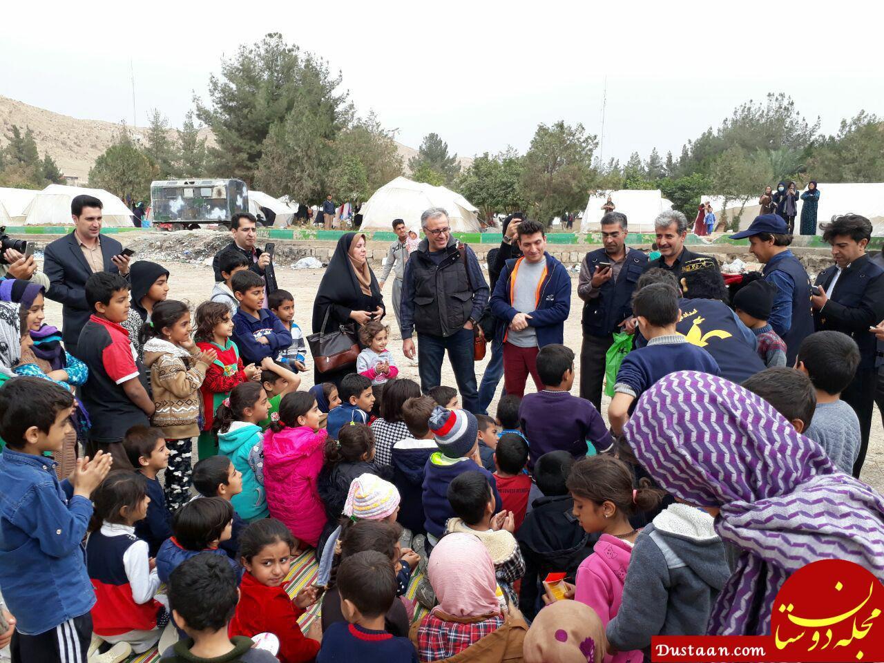 www.dustaan.com عمو های فتیله ای جمع کودکان زلزله زده +عکس