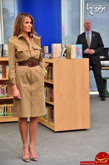www.dustaan.com لباس های جنجالی ملانیا ترامپ بانوی اول آمریکا +تصاویر