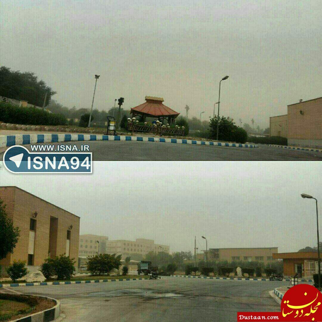 www.dustaan.com غلظت گرد و غبار اهواز ۲۳ برابر حد مجاز +عکس