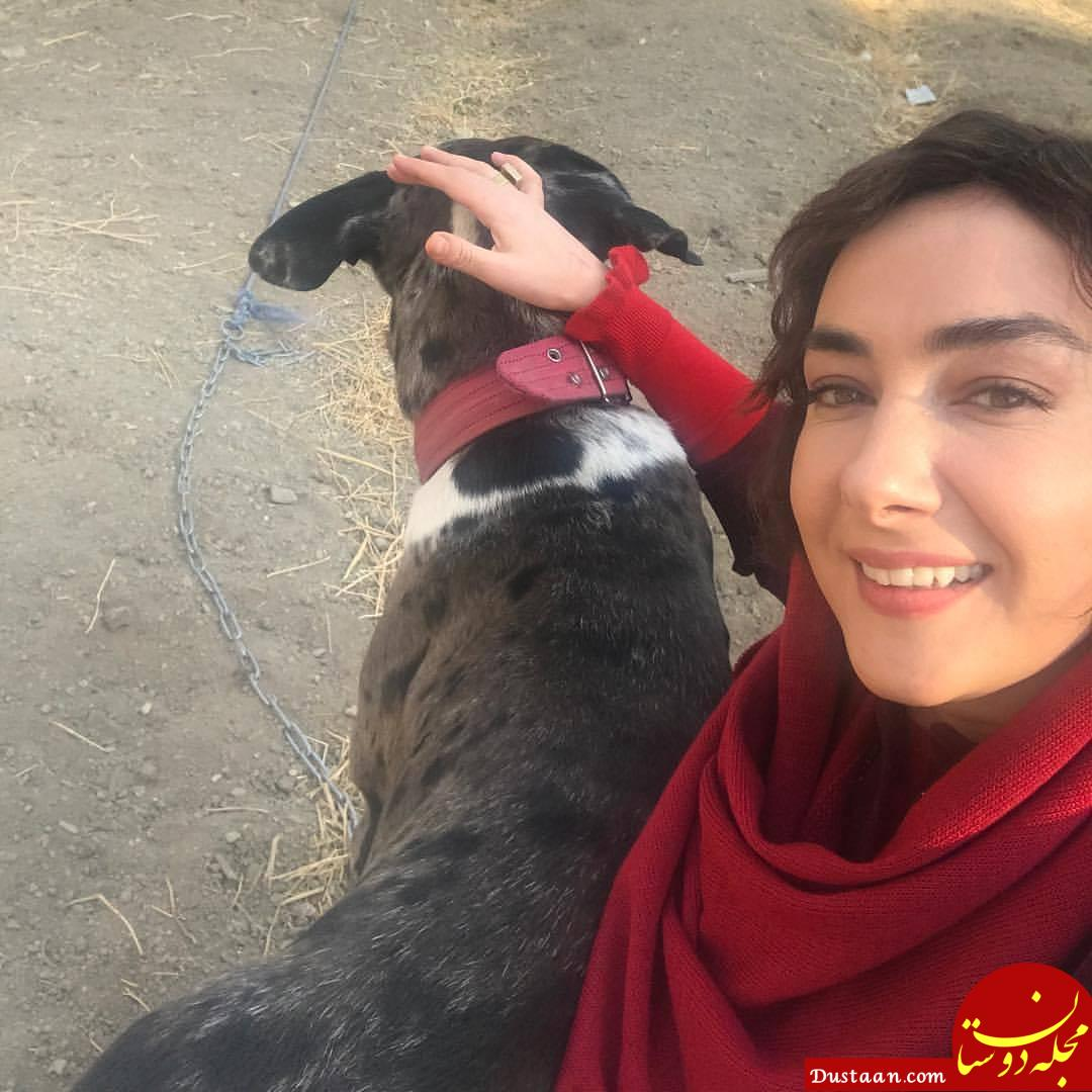 www.dustaan.com هانیه توسلی و حیوان خانگی جدیدش! +عکس