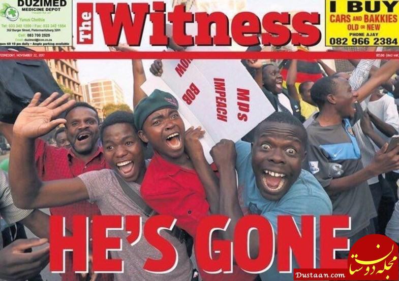 www.dustaan.com تیتر جالب روزنامه های زیمبابوه در پی برکناری موگابه +عکس