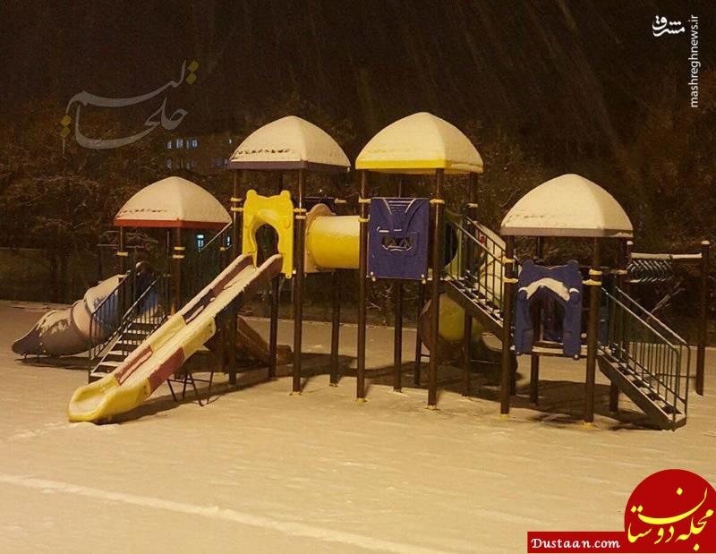 www.dustaan.com برف پاییزی کرج و خلخال را سفیدپوش کرد +عکس