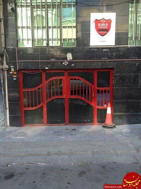 آخرین وضعیت ساختمان باشگاه پرسپولیس پس از حمله افراد ناشناس + تصاویر