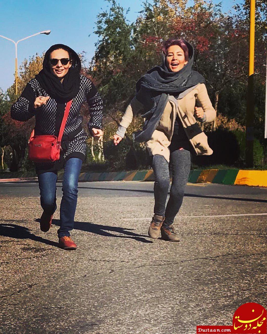 چهره ها/ عکس شاد و پر انرژی «یکتا ناصر» و خواهرش «نیکتا»