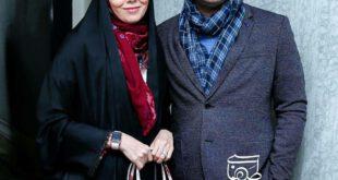 آزاده نامداری و همسرش در مراسم اکران آینه بغل +عکس