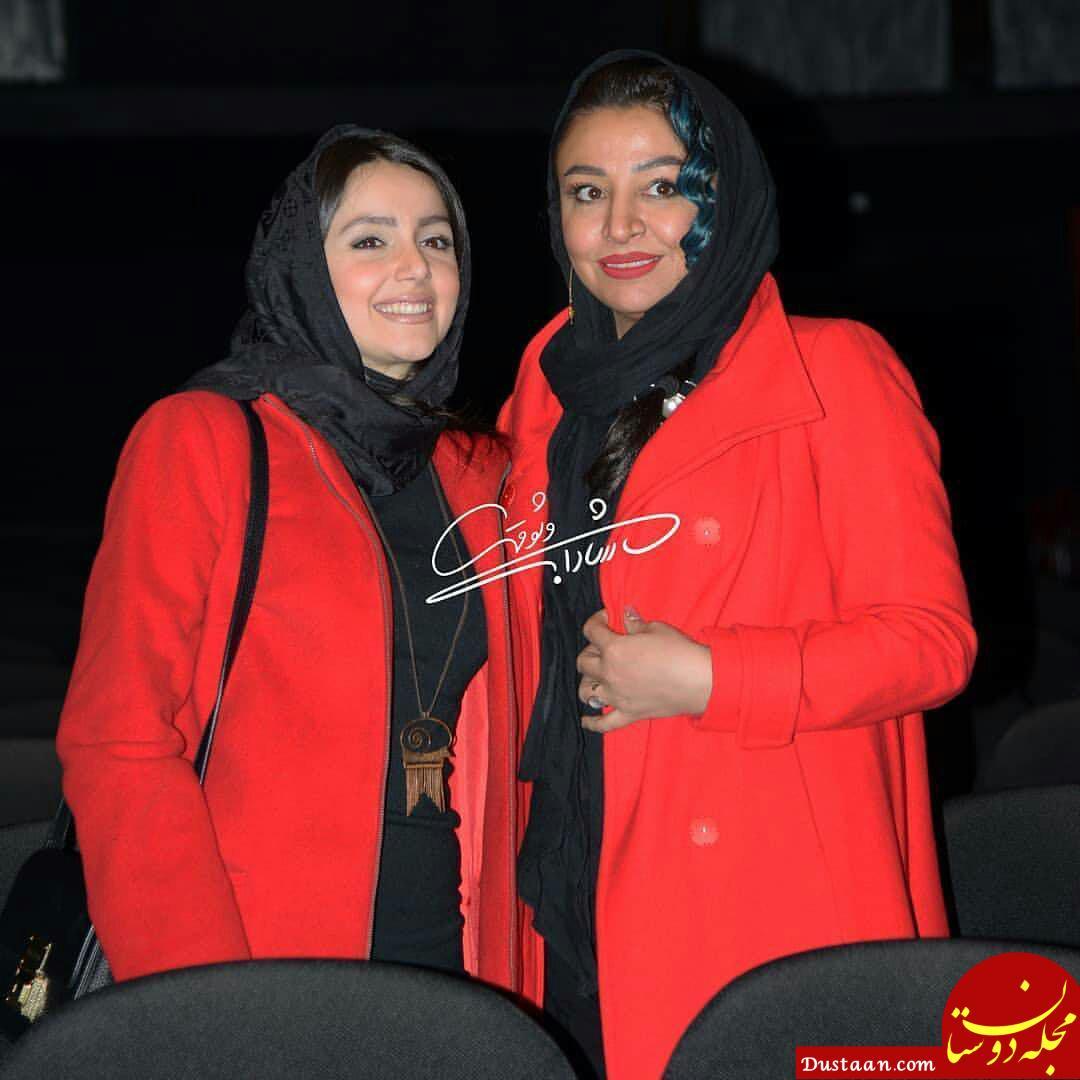 www.dustaan.com مه لقا باقری، نازنین بیاتی و خاطره حاتمی در مراسم اکران آینه بغل +تصاویر