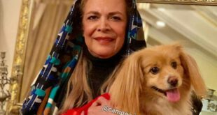 بیتا فرهی و سگ خانگی اش! +عکس