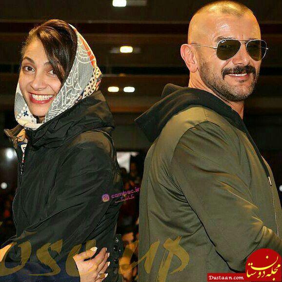 www.dustaan.com تیپ متفاوت امین حیایی و همسرش نیلوفر خوش خلق در مرایم اکران یک فیلم +عکس