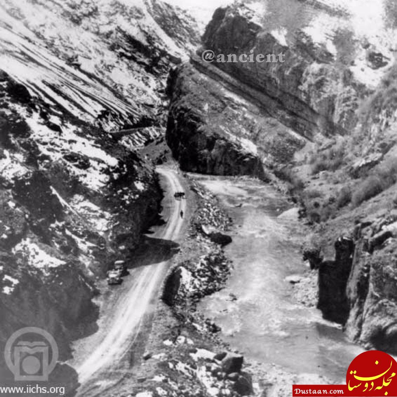تصویری دیده نشده از جاده چالوس در زمان قاجار!
