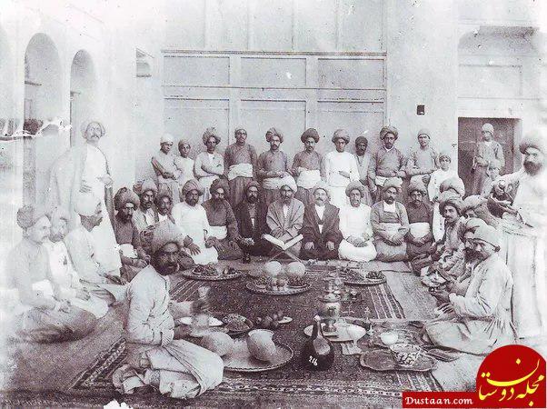 www.dustaan.com عکس دیدنی از شب یلدا در زمان قاجار!