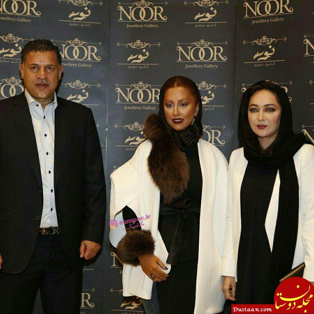 علی دایی و همسرش در کنار نیکی کریمی +عکس
