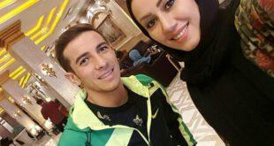 ستاره جوان پرسپولیس در کنار مریم وطن پور +عکس