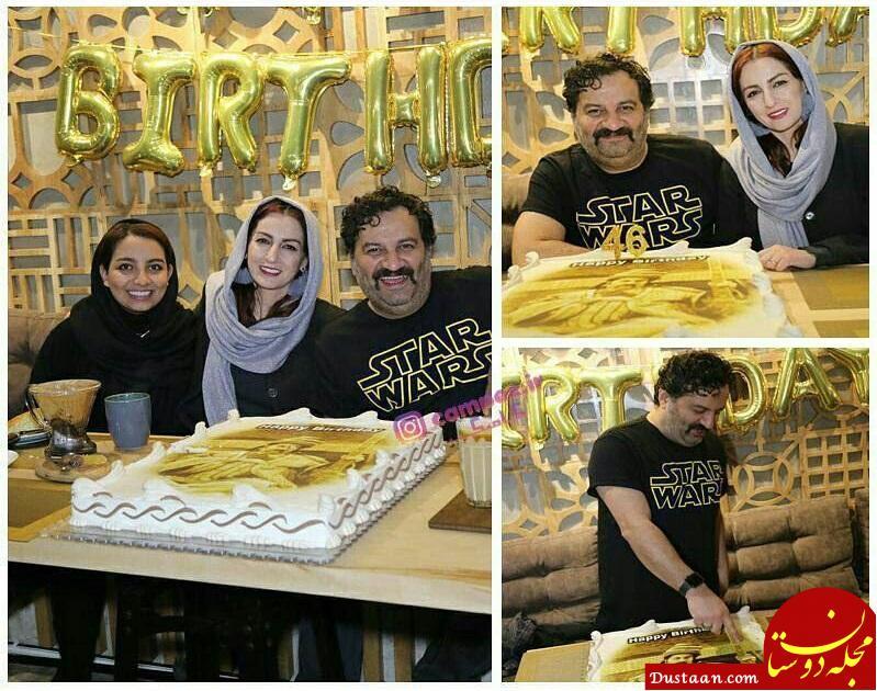 www.dustaan.com جشن تولد ۴۶ سالگی محراب قاسم خانی در کنار همسر و دخترش +تصاویر
