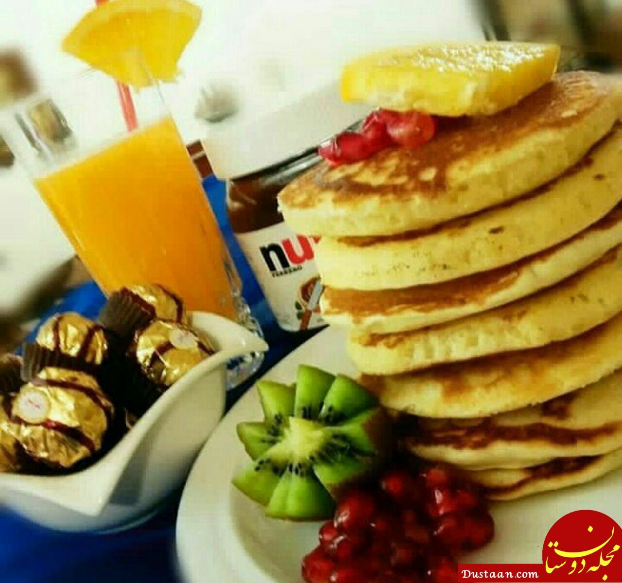 www.dustaan.com طرز تهیه پنکیک صبحانه ؛ صبحانه خوشمزه