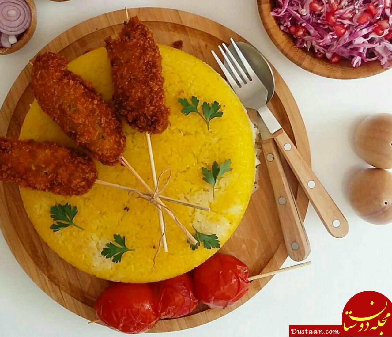 www.dustaan.com طرز تهیه کباب چوبی استانبولی به سبکی خوشمزه