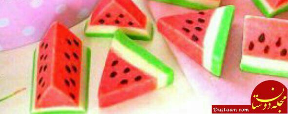 www.dustaan.com شب یلدا شکلات هندوانه ای درست کنید