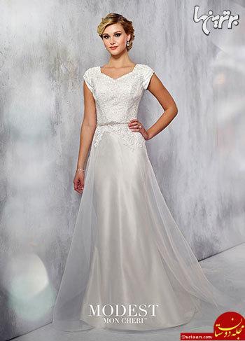 www.dustaan.com مجموعه زیباترین لباس عروسهای 2018