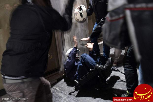 www.dustaan.com اعتراضات خشونت آمیز کارگری در یونان +عکس