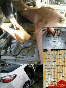 www.dustaan.com جاسازی ۷۴ کیلو گرم هروئین داخل خودروی ام جی + عکس