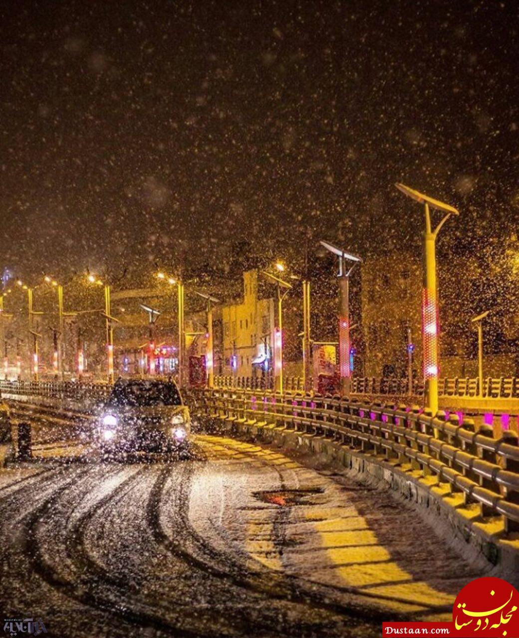 www.dustaan.com بارش اولین برف پاییزی در ارومیه +تصاویر