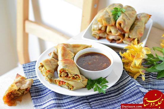 www.dustaan.com بورک مرغ ؛ غذای ترکیه ای لذیذ + طرز تهیه