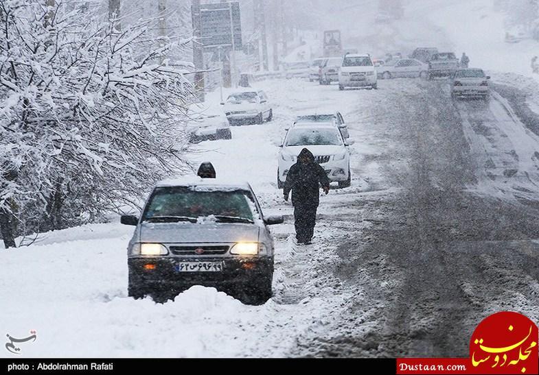 www.dustaan.com تصاویری زیبا از بارش نخستین برف پاییزی در همدان