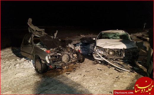 www.dustaan.com تصادف زنجیره ای در کردستان 5 کشته برجای گذاشت +عکس