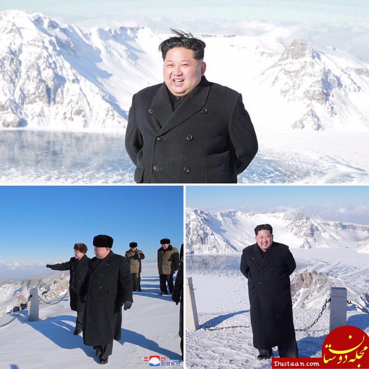 چهره خندان کیم جونگ اون در حال کوه نوردی! +تصاویر