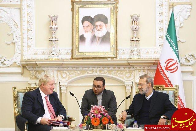 www.dustaan.com دیدار لاریجانی با بوریس جانسون، وزیر خارجه انگلیس +عکس