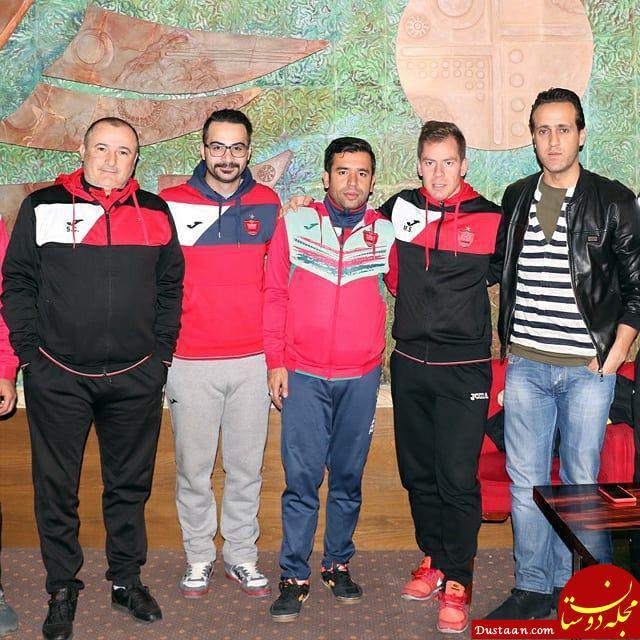 www.dustaan.com علی کریمی به جمع پرسپولیسی ها آمد +عکس