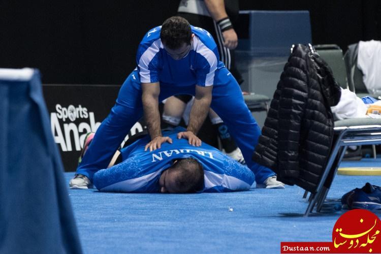 www.dustaan.com وقتی سهراب مردای بهداد سلیمی را ماساژ می دهد + عکس