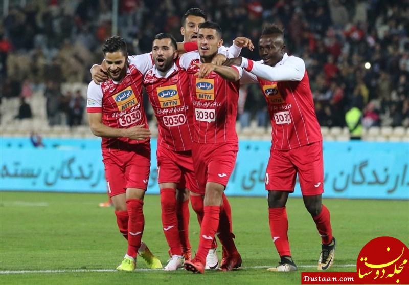www.dustaan.com قهرمانی نیم فصل پرسپولیس با برد نفت آبادان شیرین تر شد